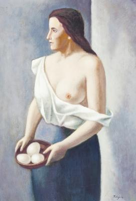 """""""La mujer con huevos"""" PELEGRÍN MARTÍNEZ, Santiago"""