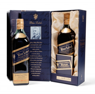 Botella de Johnnie Walker Blue Label.