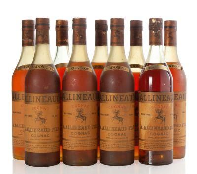 Nueve botellas de Allineaud Fils. Categoría: Cognac.