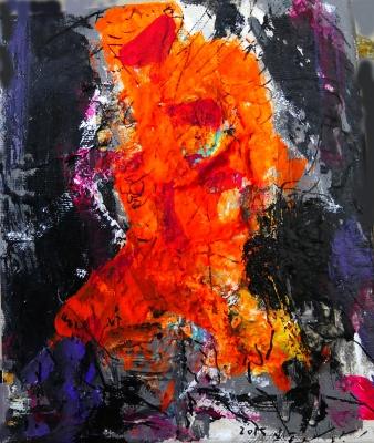 Fouad Abou Saada (Siria, 1946).Abstracto.