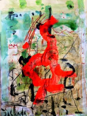 FOUAD ABOU SAADA (Siria, 1946).Ave fénix.