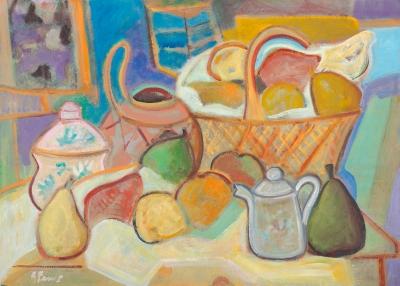 """GUILLERMO FERRER GAVILÁ (Valencia, 1967).""""Variación I de Paul Cézanne."""