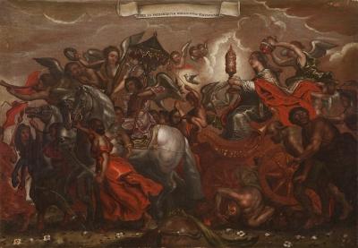 """""""El Triunfo de la Iglesia"""" PORTILLA, Jerónimo de la"""