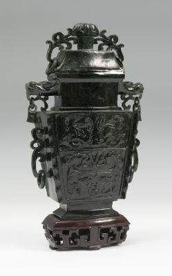 Perfumer China, early 20th century.Jade NephriteMeasures: 25 x 14 x 6 cm.