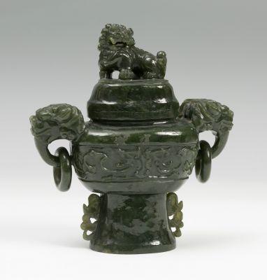 Perfumer China, 19th centuryJade NephriteMeasures: 14 x 13 x 6 cm..