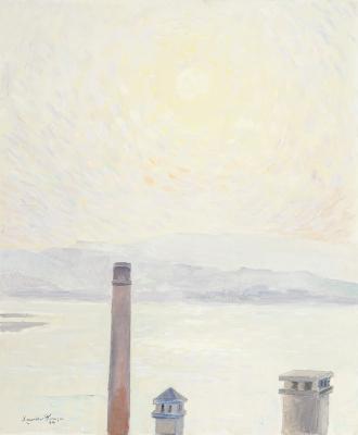 """""""Vista de la Ría de Vigo"""", 1996. Xavier Pousa"""