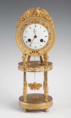 Reloj de estilo Imperio; Francia, hacia 1820-25.