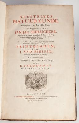 """Geestelyke Natuurkunde"" SCHEUCHZER, Johann Jakob"