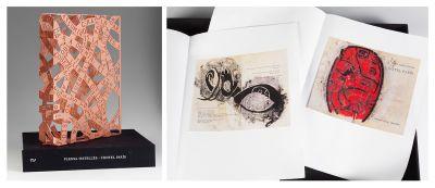 JAUME PLENSA (Barcelona, 1955). Escultura en cobre,  con grabado calcográfico,  seis imágenes impresas en cuadricomía,.