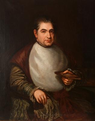 """Retrato de Don Félix José de Reinoso"" JOSÉ GUTIÉRREZ D"