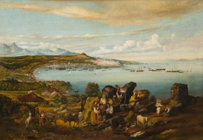 """""""Vista de la Ría de Vigo desde la Guía"""" Escuela español"""