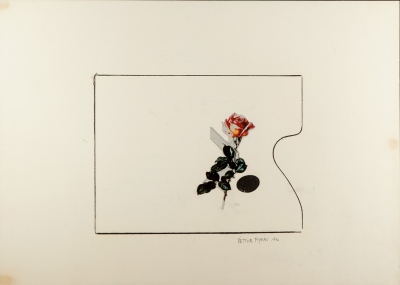 VETTOR PISANI (Italia 1934 - 2011)Sin título, 1990.Dibujo y collage.