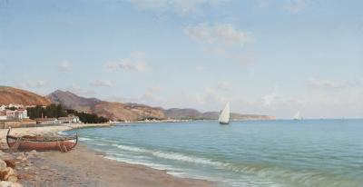 """Vista de la costa"", 1907. Enrique Florido Bernils"