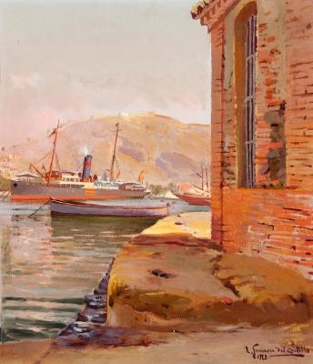 """""""Puerto de Málaga"""" LEOPOLDO GUERRERO DEL CASTILLO"""