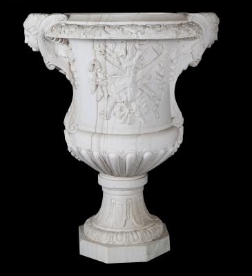 Lote: 35155366Jarrón moderno de estilo romano.Mármol blanco.