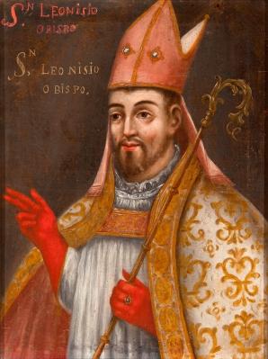 """""""Santo Obispo"""". Escuela española del siglo XVIII."""