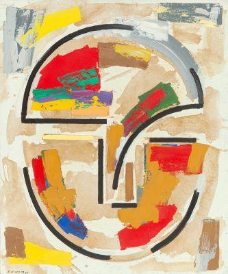 """Cabeza multicolor nº7"", 1989. RAFAEL CANOGAR"