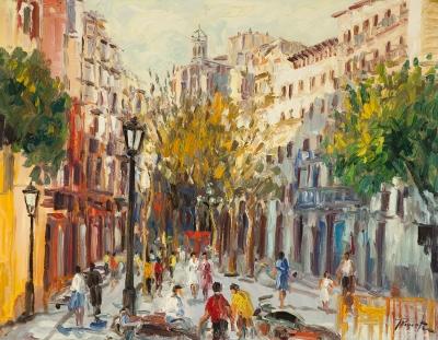 """Santa María del Mar, Barcelona"" REVERTE OLIVA, Juan Antonio"