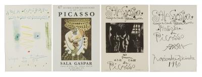 Cuatro carteles de exposiciones de Picasso en la Sala G