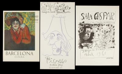 Tres carteles de exposiciones de Picasso.