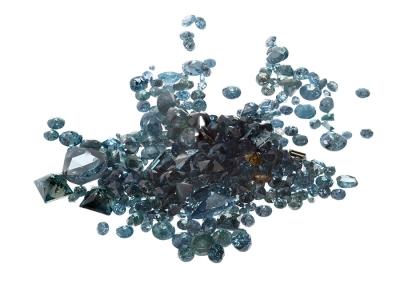 Lote de diamantes naturales, tallas variadas, color Fancy Yellow, White y prioritariamente color Fancy Blue/Green, color tratado, con un peso total de ca. 11,30 cts.