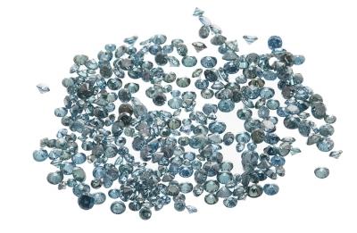 Lote de diamantes, en distintas tallas, color Fancy Gre