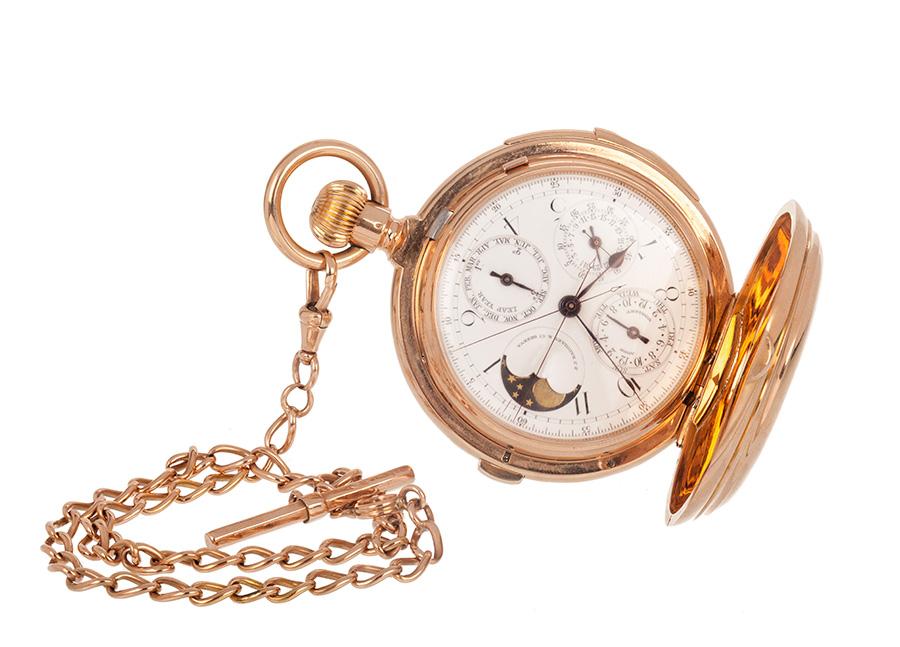 Reloj de bolsillo J. J. Badollet & C. à Genève para caballero, nº 88165. Hacia 1880-1890.