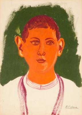 """""""Cabeza de niño"""", 1948. PALENCIA, Benjamín"""