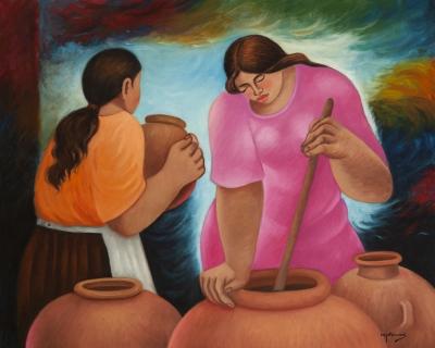 """""""Mujeres con tinajas"""" Eduardo Millones Farfán"""