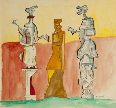 """""""Figuras"""", 1977. Eugenio Fernández Granell"""