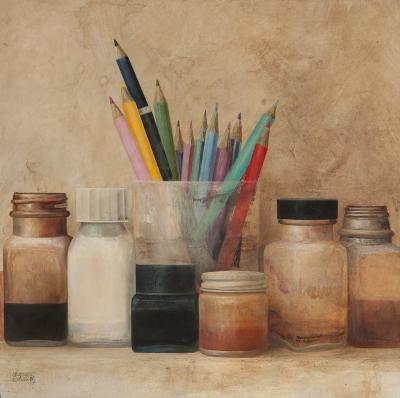 """""""Lápices"""", 1983. Cristóbal Olmedo"""