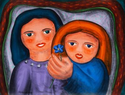"""""""Madre e hija"""".  ANGEL SEVILLANO ESTREMERA"""