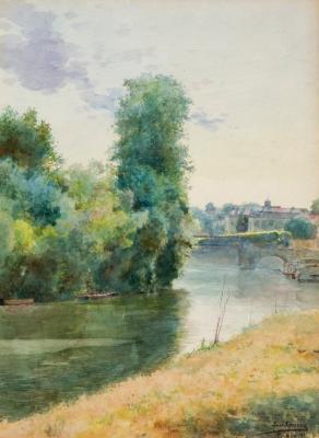 """Paisaje de Pontoise"", 1911. LUIS JIMÉNEZ ARANDA"