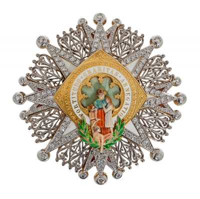 Masriera y Carreras, medalla tipo cruz de la orden civi