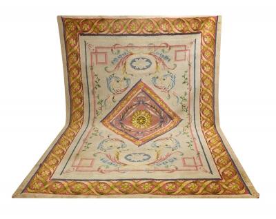 Alfombra de diseño neoclásico, Real Fábrica de Tapices,