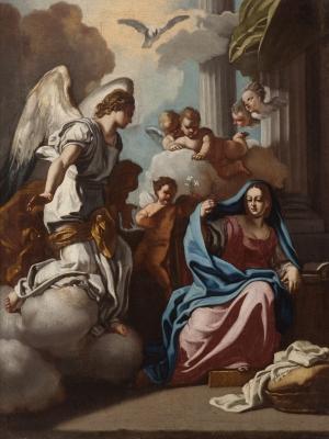 """""""La Anunciación"""" Francesco Solimena"""