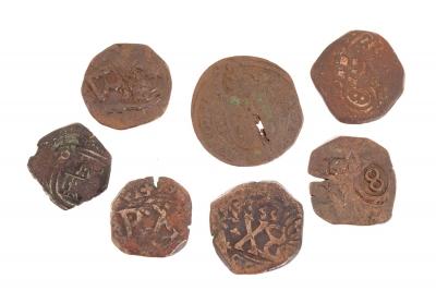 7 monedas españolas pertenecientes a la monarquía de la