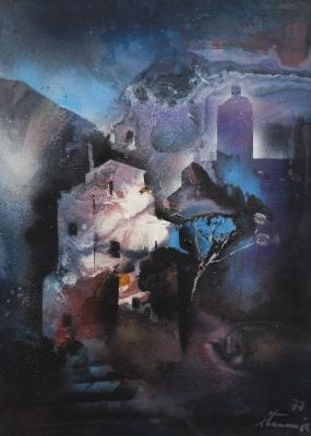 """""""Paisaje onírico"""", 1977. Ignacio Iturria"""