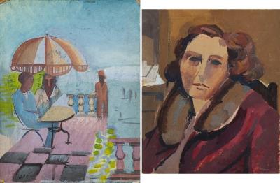 """""""Personajes en una terraza"""" Alfred Reth"""
