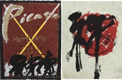 """Sin título y """"Homenaje a Picasso"""".  Bih-In Dai"""