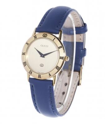 Reloj GUCCI para señora.Caja chapada en oro amarillo.