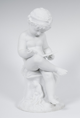 """Enfant lisant"". Según modelo de Antonio Canova"
