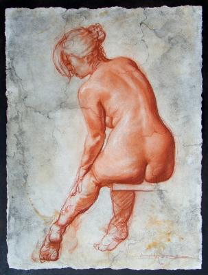 Medidas de la pintura: 46 x 34,5 cm. IVAN RUIZ .