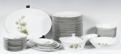 Vajilla en porcelana china. Mediados del s.