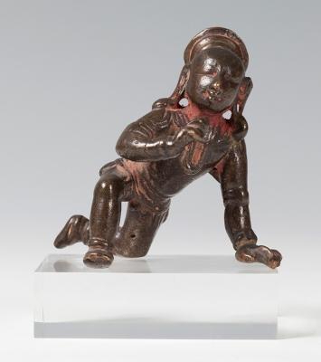 Balakrishna figure. Tamil Nadu, India, 16th-17th centuryBronze with remains of polychromy.