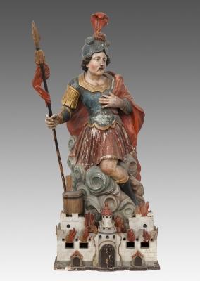 """""""San Florián"""" Escuela del sur de Alemania de finales del s. XVII."""