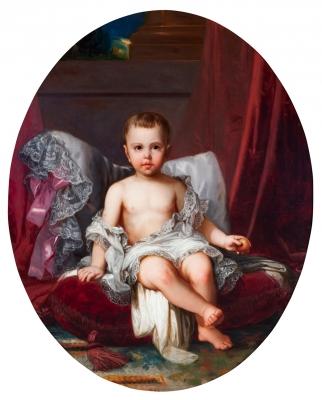 """Retrato infantil"" Atribuido a FEDERICO DE MADRAZO Y KÜNTZ"