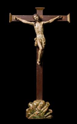 """""""Cristo en la cruz"""" Escuela vallisoletana, siglo XVII."""