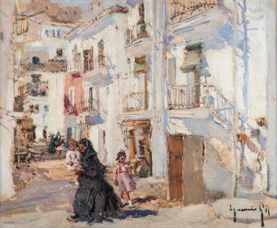 """""""Calle de pueblo"""". IGNACIO GIL SALA"""