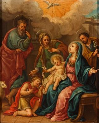 """""""Sagrada familia con San Juanito, Santa Ana y san Joaqu"""